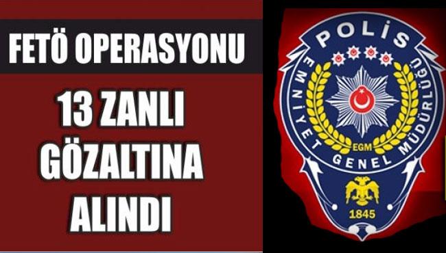Zonguldak'ta Fetö Operasyon kapsamında 13 Gözaltı