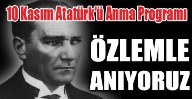 Ereğli'de 10 Kasım Atatürk'ü Anma Programı