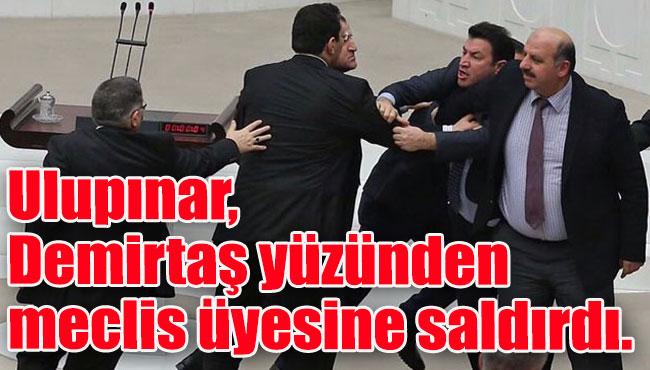 Ulupınar, Demirtaş yüzünden meclis üyesine saldırdı.