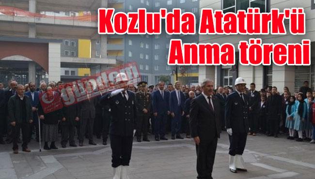 Kozlu'da Atatürk'ü Anma töreni