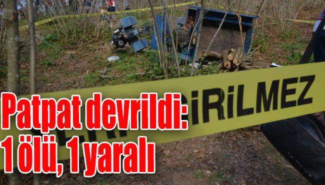 Akçakoca'da Patpat devrildi: 1 ölü, 1 yaralı