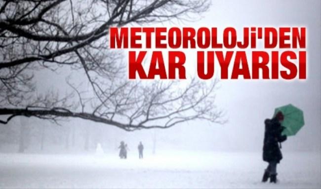 """Batı Karadeniz'de """"kar"""" uyarısı"""
