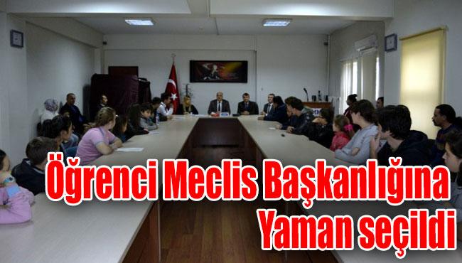 Öğrenci Meclis Başkanlığına Yaman seçildi