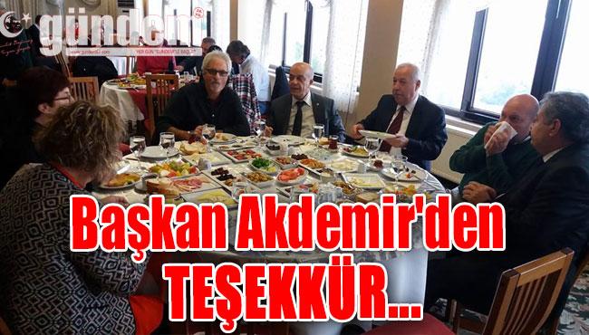 Başkan Akdemir'den Teşekkür...