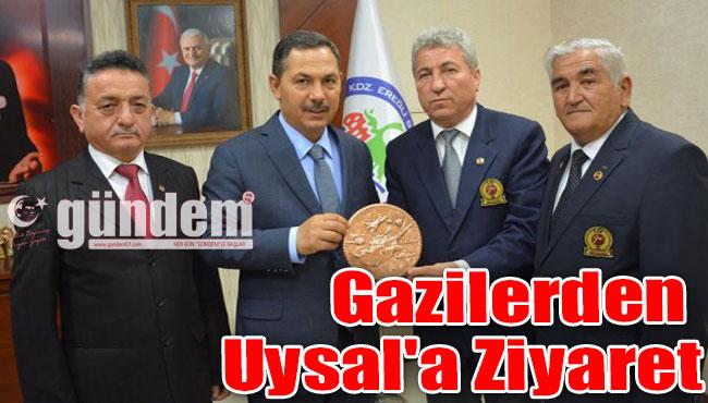 Gazilerden Başkan Uysal'a ziyaret