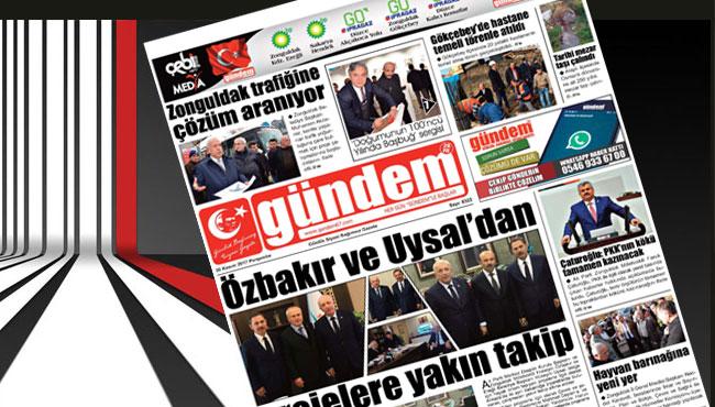 30 Kasım 2017 Gündem Gazetesi