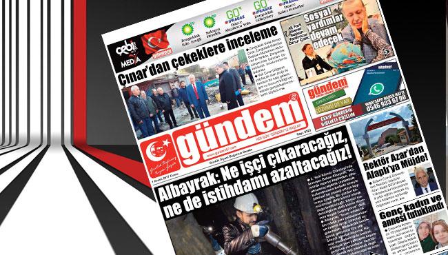 01 Aralık 2017 Gündem Gazetesi