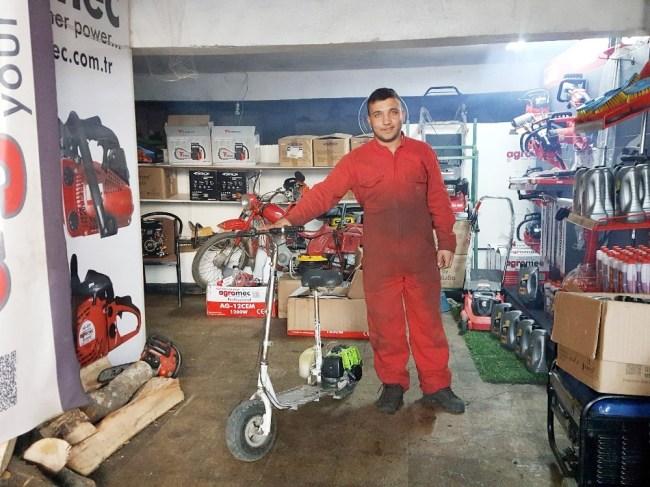 Öğrenciden Çim biçme makinesinden motor yaptı