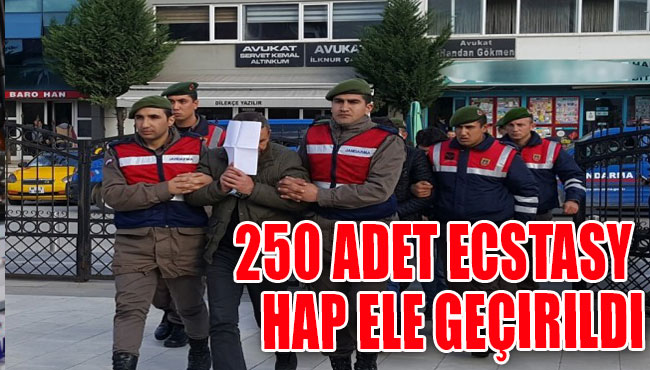 Jandarma'dan 250 adet ecstasy hap ele geçirildi