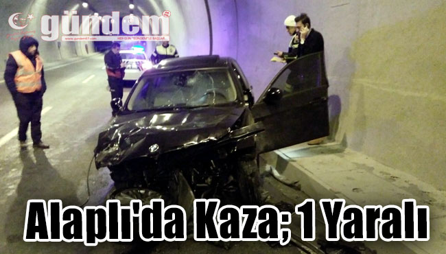 Alaplı'da Kaza; 1 Yaralı