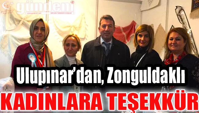 Ulupınar'dan, Zonguldaklı Kadınlara teşekkür
