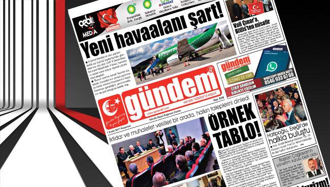 07 Aralık 2017 Gündem Gazetesi