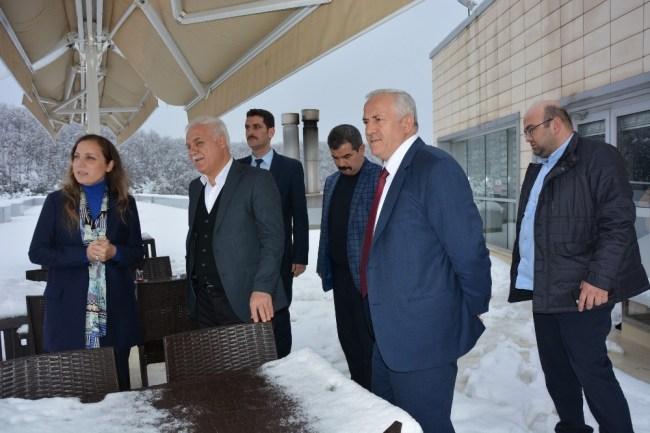 Nihat Hatipoğlu'ndan Rektör Çakar'a ziyaret Etti,,,