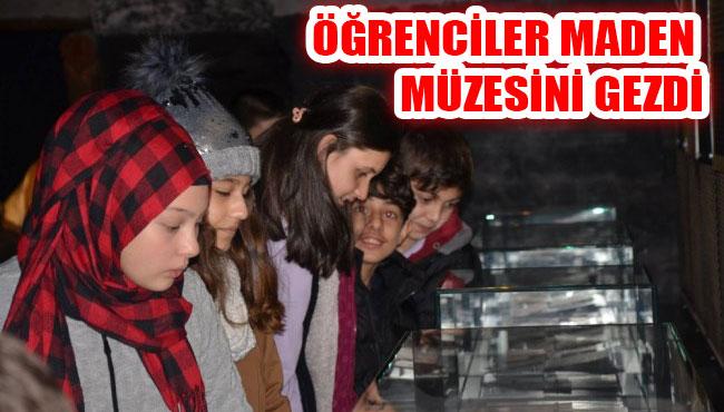 Öğrenciler maden müzesini gezdi...