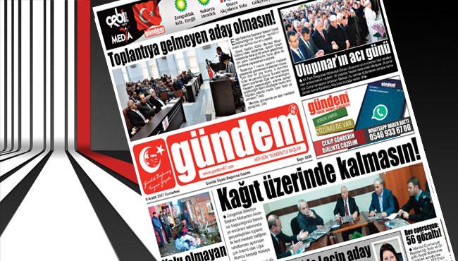 09 Aralık 2017 Gündem Gazetesi