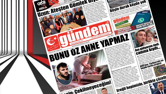 13 Aralık 2017 Gündem Gazetesi