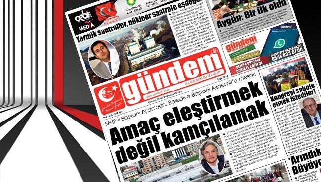 19 Aralık 2017 Gündem Gazetesi