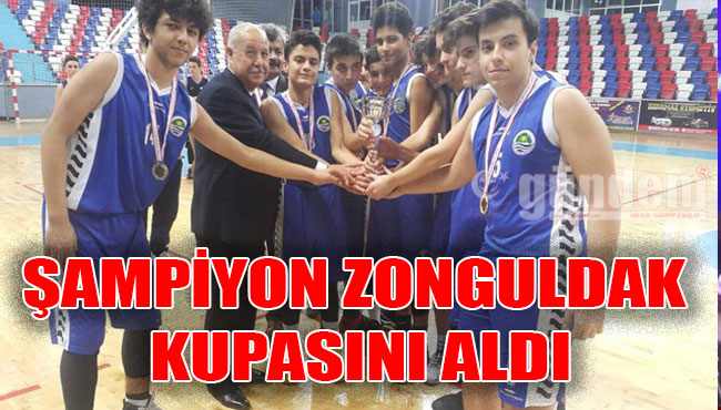 Şampiyon Zonguldak kupasını aldı