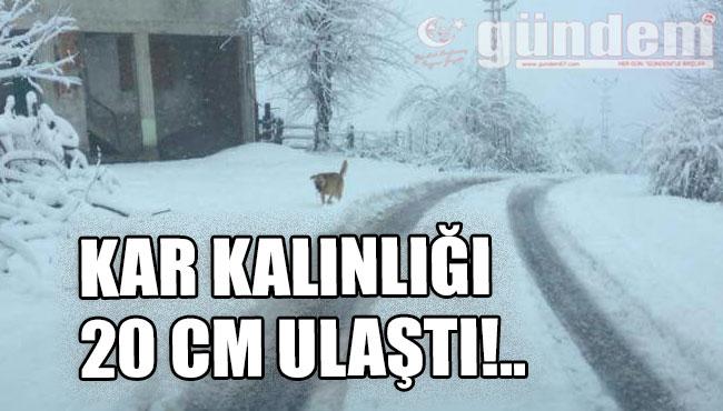 Kar Kalınlığı 20 cm Ulaştı!..