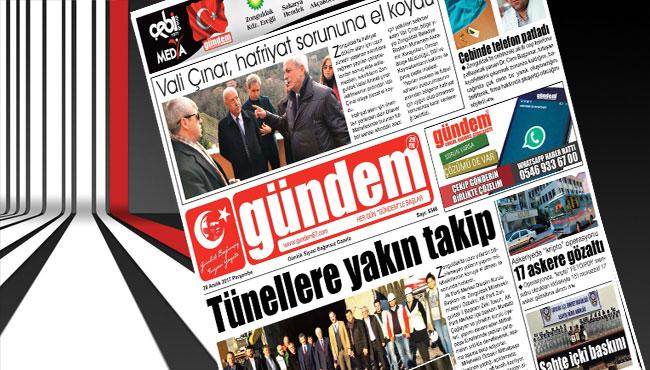 28 Aralık 2017 Gündem Gazetesi