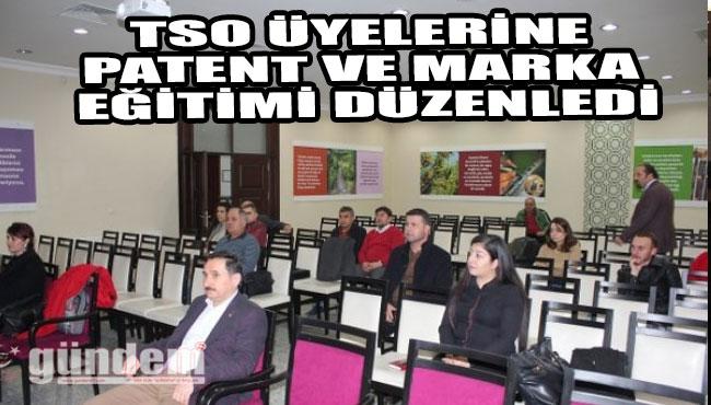 TSO üyelerine patent ve marka eğitimi düzenledi