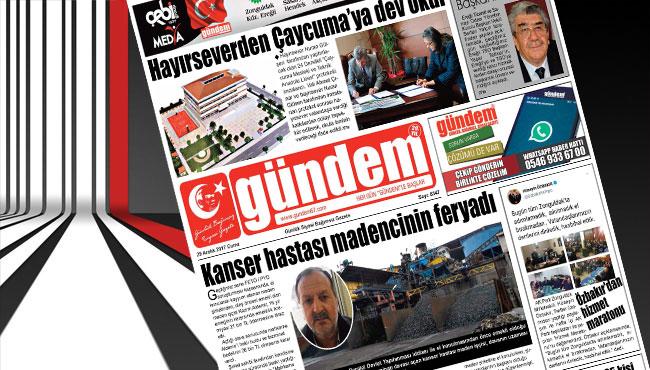 29 Aralık 2017 Gündem Gazetesi