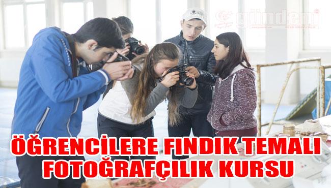 Öğrencilere fındık temalı fotoğrafçılık kursu