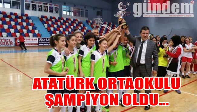 Atatürk Ortaokulu şampiyon oldu...