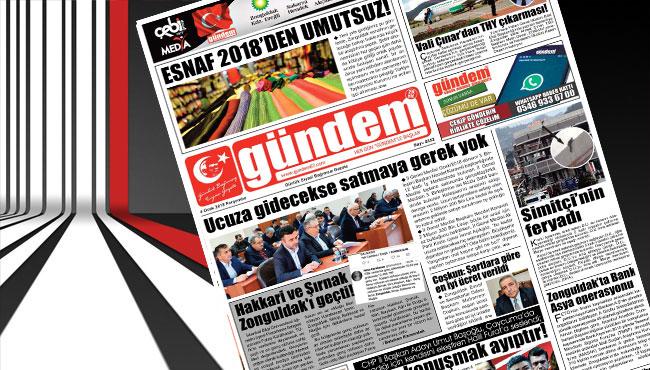 04 Ocak 2018 Gündem Gazetesi