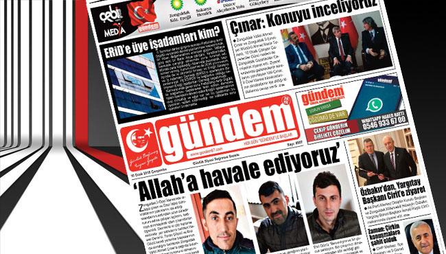 10 Ocak 2018 Gündem Gazetesi
