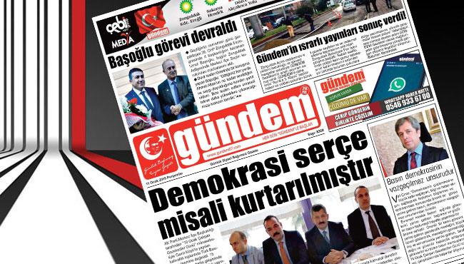 11 Ocak 2018 Gündem Gazetesi