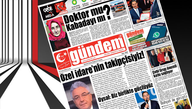 12 Ocak 2017 Gündem Gazetesi