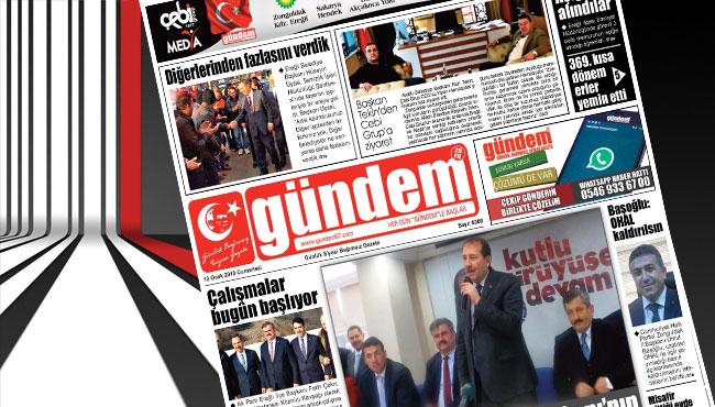 13 Ocak 2018 Gündem Gazetesi