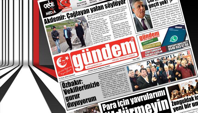 15 Ocak 2018 Gündem Gazetesi