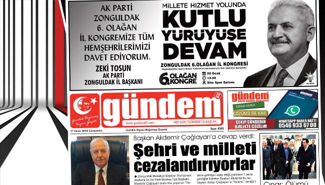 17 Ocak 2018 Gündem Gazetesi