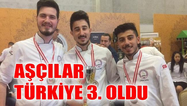 Aşçılar Türkiye 3. Oldu