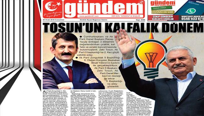 20 Ocak 2018 Gündem Gazetesi