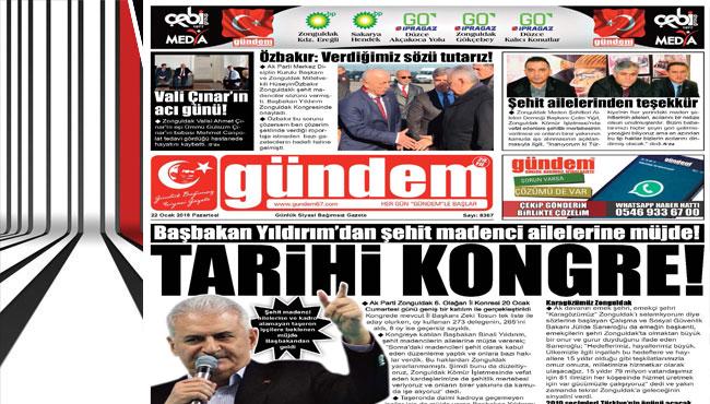 22 Ocak 2018 Gündem Gazetesi
