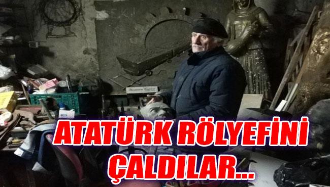 Atatürk rölyefini çaldılar...