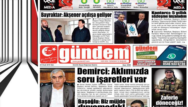 23 Ocak 2018 Gündem Gazetesi