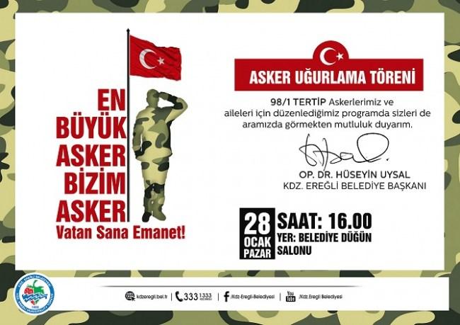 'En Büyük Asker Bizim Asker. Vatan Sana Emanet'