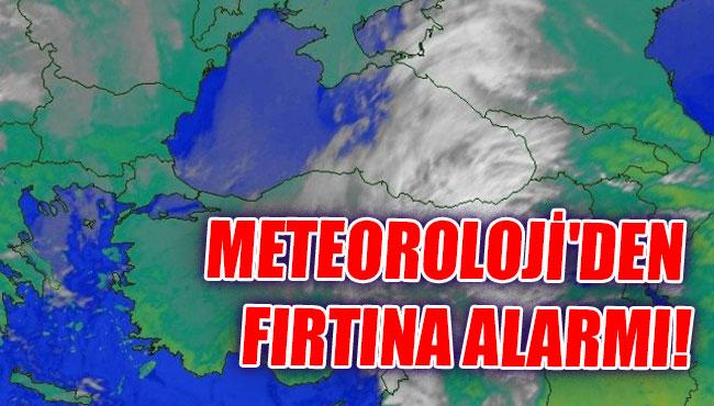 Meteoroloji'den fırtına alarmı!