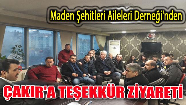 Maden Şehitleri Aileleri Derneği'nden Çakır'a teşekkür ziyare