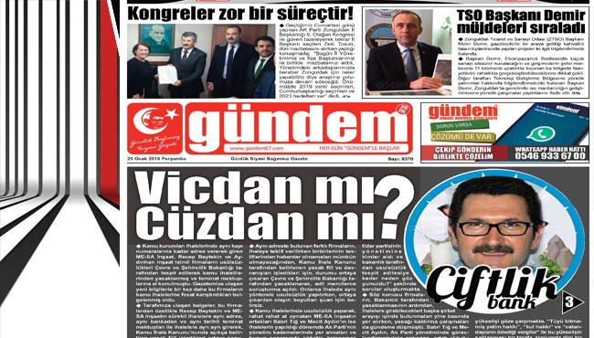 25 Ocak 2018 Gündem Gazetesi