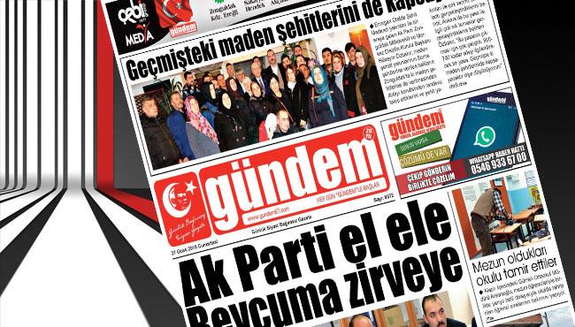 27 Ocak 2018 Gündem Gazetesi