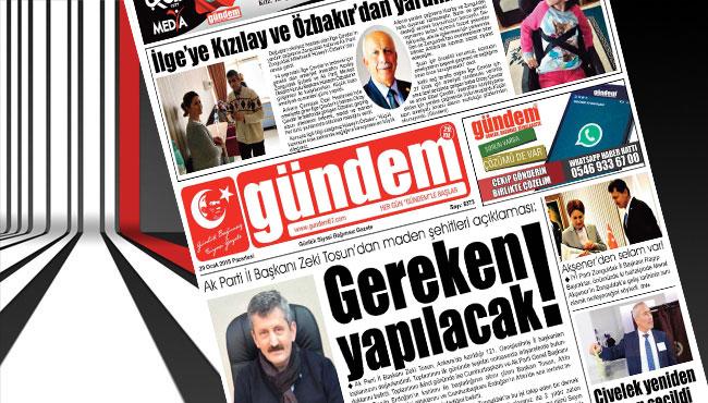 29 Ocak 2018 Gündem Gazetesi
