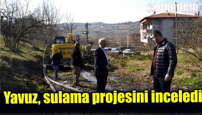 Yavuz, sulama projesini inceledi ...