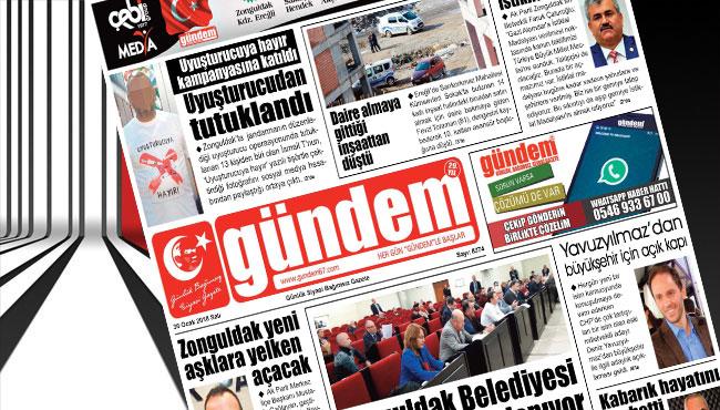 30 Ocak 2018 Gündem Gazetesi