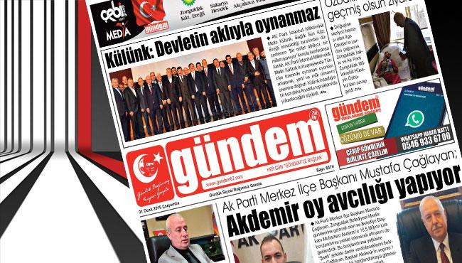 31 Ocak 2018 Gündem Gazetesi