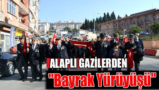 """Alaplı Gazilerden """"Bayrak Yürüyüşü"""""""